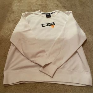 Nike JDI White Crewneck